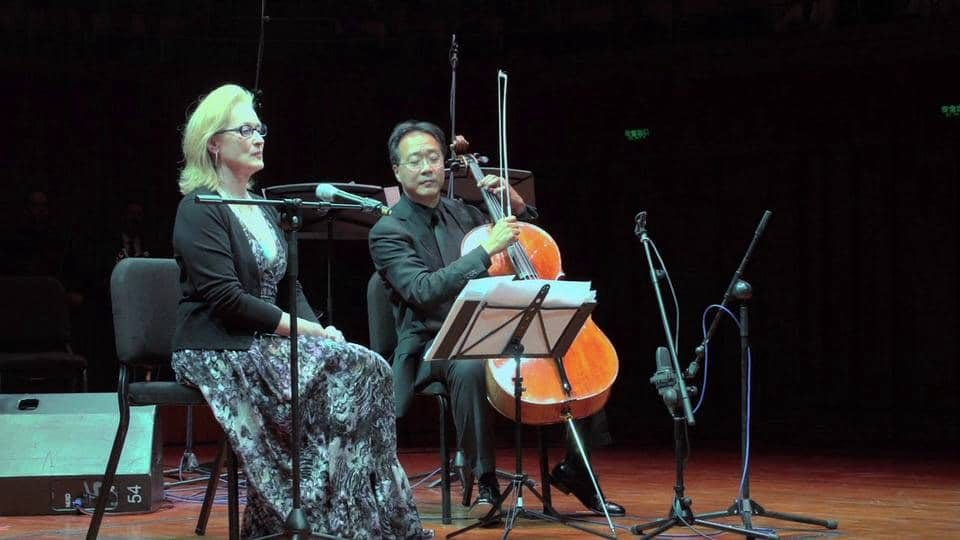 Meryl Streep Poetry Reading Accompanied by Yo-Yo Ma